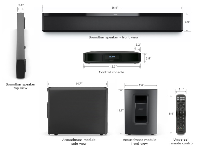 Bose 174 Cinemate 174 130 Digital Home Theater Speaker System
